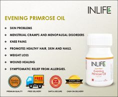 #Evening #primrose #oil                                        For your #skin problems, #menstraul #problems,  #knee #pains, #hair, #weightloss                       More info at #inlifehealthcare.com Evening Primrose Oil Benefits, Health And Beauty, Health And Wellness, Essential Oil Menstrual Cramps, Benefits Of Vitamin A, Healthy Junk, Oils For Skin, Holistic Healing