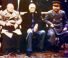 Yalta conference 1945: Churchill ( Great Britain ), Eisenhower ( USA ), Stalin ( USSR ). The Alliance that emerged victorious after Hitler's war that consumed some 73 million lives.
