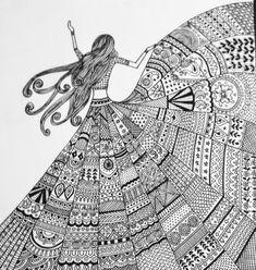Doodle art painting by artist geeta kwatra - gallerist Mandala Art Lesson, Mandala Artwork, Mandala Doodle, Girly Drawings, Art Drawings Sketches Simple, Pencil Art Drawings, Easy Doodles Drawings, Pen Doodles, Doodle Art Drawing