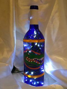 Florida Gators lighted wine bottle