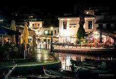 Night view from the Lake  Agios Nikolaos - Crete - Greece