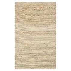 Hand-woven jute rug.    Product: RugConstruction Material: JuteColor: Natural and greenFeatures:  Hand-wovenMade in India Note: Please be aware that actual colors may vary from those shown on your screen. Accent rugs may also not show the entire pattern that the corresponding area rugs have.Cleaning and Care: Professional cleaning recommended