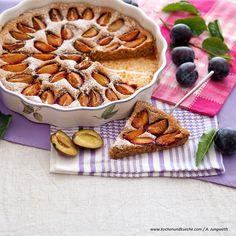 Zwetschkenkuchen » Kochrezepte von Kochen & Küche Food Porn, Apple Pie, Waffles, Breakfast, Desserts, Buckwheat Cake, Cake Batter, Oven, Dessert Ideas