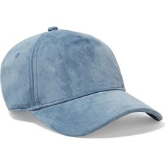 rag & bone Marilyn suede baseball cap ($160) ❤ liked on Polyvore featuring accessories, hats, blue, adjustable baseball hats, cap hats, blue ball cap, baseball hat and sports cap