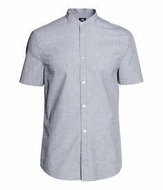 H&M Short-sleeved Cotton Shirt $10