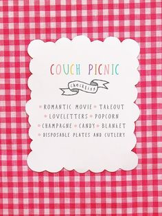 couch picnic... what a freaking adorable date night idea. I legit love this.