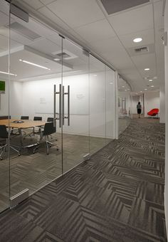 GoDaddy Offices in Kirkland, WA RIGHT ANGLE COLLECTION STYLE: DIVERGE COLOR: 00730, 00150 SPECIFIED BY JPC ARCHITECTS, BELLEVUE, WA