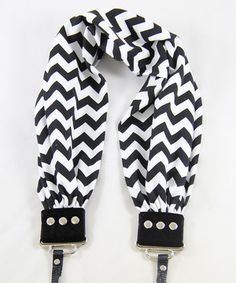 Another great find on #zulily! Black & White Chevron Scarf Adjustable Camera Strap by Capturing Couture #zulilyfinds