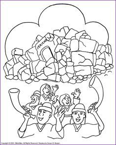 free coloring pages for joshua and the battle of jericho - Google Search