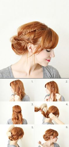 How to style a braided chignon | #DIY Hair Styles