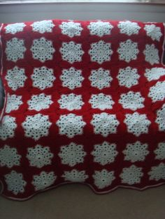 Snowflake afghan I made for my daughter.