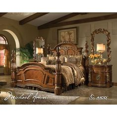Shop this aico furniture villa valencia bedroom set from our top selling AICO Furniture bedroom sets. LuxeDecor is your premier online showroom for bedroom furniture and high-end home decor. King Size Bedroom Furniture, Luxury Bedroom Furniture, King Bedroom Sets, Home Decor Bedroom, Furniture Design, Cheap Furniture, Furniture Stores, Luxury Bedding, Furniture Market