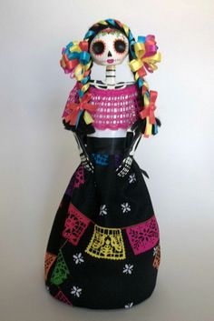 Mexican Paper Mache Catrina Papel Picado by LaCasaRoja on Etsy