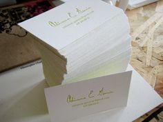 Beautiful Letterpress Business Cards