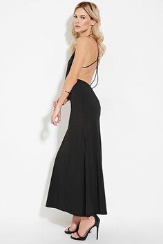 High-Slit Cami Maxi Dress