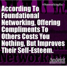 #NetworkingRx: Who would you like to compliment?