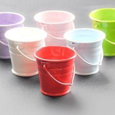 Red 4 cm metal bucket - Metal Buckets and Pots