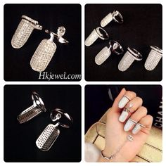 Make yourself total different fingernail with silver material!Lol,Want to have one for yourself? Contact us now at sales@hkjewel.com