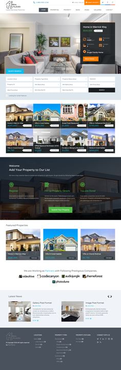 Real Places is Premium full Responsive Retina #WordPress #RealEstate #Theme…