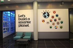 Smarter Planet tagline & logo décor
