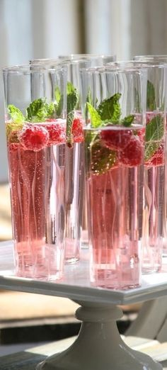 Berry Champagne Cocktail