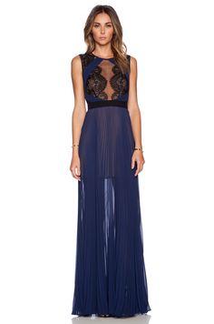 BCBGMAXAZRIA TBD Dress in Classic Blue Combo   REVOLVE