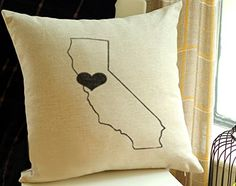 Personalized USA Map PillowCustom State To State By CreativePillow - Us map pillow personalized