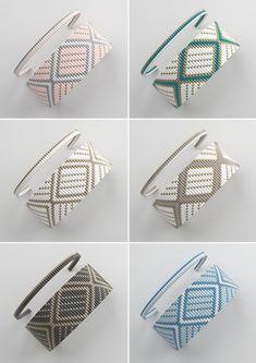 bead weaving patterns for bracelets Loom Bracelet Patterns, Bead Loom Bracelets, Bead Loom Patterns, Weaving Patterns, Easy Knitting Patterns, Stitch Patterns, Art Patterns, Mosaic Patterns, Painting Patterns
