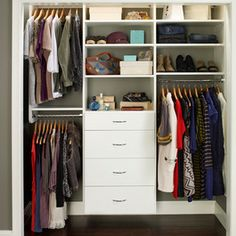 Reach-In Closet Organizers: White - contemporary - closet organizers - los angeles - Interior Door & Closet Company | Los Angeles, CA