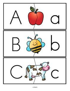 ***FREE*** Alphabet upper and lower case letters puzzle match-ups, full alphabet.