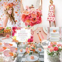 Pink, Peach & Orange Floral Wedding Inspiration | SouthBound Bride - Weddbook