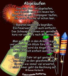 Einen guten Rutsch ins neue Jahr wünsche ich euch Allen. ..