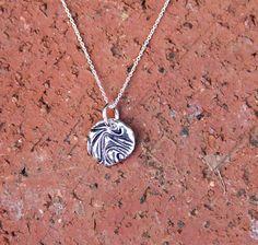 Swirled Up silver charm-handmade- by SilverAddictionJwlry on Etsy