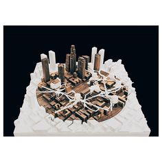 "nexttoparchitects: ""by @bransuwandrei #next_top_architects Walnut site model with 'cherries on top' @naymzjaymz #LA """