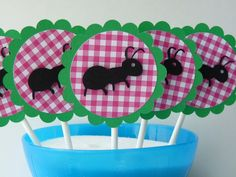 Cupcake toppers for picnic party