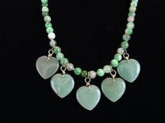 Green Jade Beaded Strand Necklace by Debbie Renee by DebbieRenee, $42.00