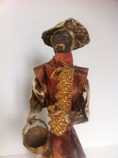 Vintage Paper Figurine Old man Mexican Folk Art by LoreNovedades, $18.00