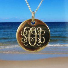 Gold Monogram Necklace
