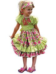 Baby Dresses & Outfits Sewing Pattern - Elena's Twirly Peasant Dress