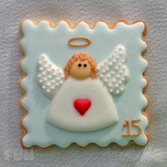 Angel-15 christmas decorated cookie