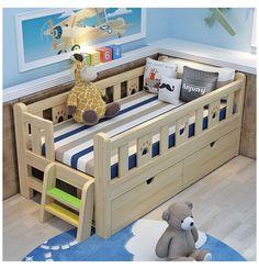 Diy Toddler Bed, Boy Toddler Bedroom, Toddler Rooms, Baby Boy Rooms, Kids Bedroom, Toddler Boy Room Ideas, Toddler Bed Frame, Kids Beds For Boys, Beds For Toddlers