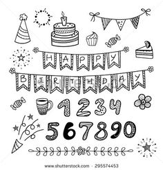 happy birthday doodles – Google Search