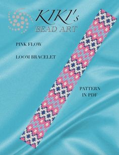 Bead loom pattern Pink flow geometric LOOM bracelet pattern