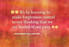 The path to healing pain starts with one step of forgiveness.