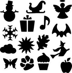 snowman Santa sleigh bat present sund cloud paw print apple .Fiskers Punches in SVG Silhouette Fonts, Silhouette Cameo Tutorials, Silhouette Images, Silhouette Portrait, Silhouette Machine, Silhouette Design, Cricut Cuttlebug, Cricut Creations, Just In Case