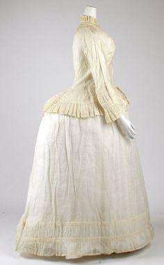 Morning dress ca. 1870, American