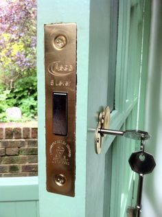 At night you would need to use the key to lock this - if you have ...