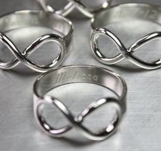 Engraved Infinity Ring, Silver Infinity Ring, Personalized Jewelry, Personalized Ring on Etsy, $55.00