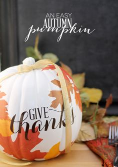 DIY Autumn Decoupage Pumpkin is part of Autumn crafts Pumpkins I am that girl The one who twiddles her thumbs until pumpkin season comes around and when it does bank account beware I will buy - Fall Pumpkins, Halloween Pumpkins, Halloween Crafts, Christmas Pumpkins, Halloween Stuff, Fall Halloween, Halloween Ideas, Autumn Crafts, Holiday Crafts