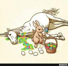 Hat der Hase das Einhorn abgestochen?   Lustige Bilder, Sprüche, Witze, echt lustig